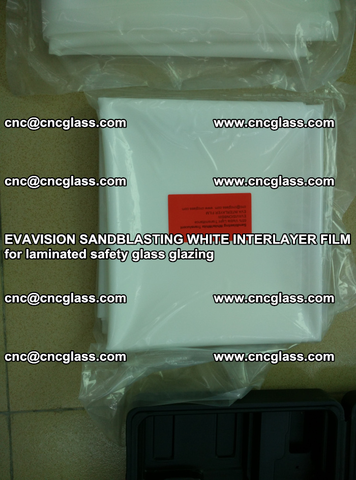 EVAVISION SANDBLASTING WHITE INTERLAYER FILM for laminated safety glass glazing (13)