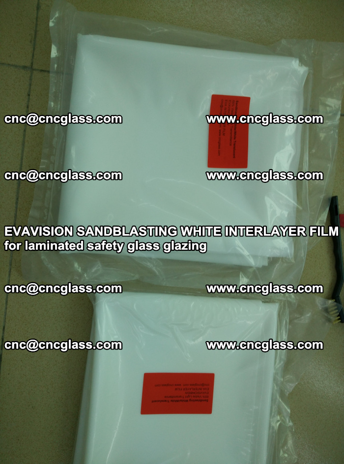 EVAVISION SANDBLASTING WHITE INTERLAYER FILM for laminated safety glass glazing (15)