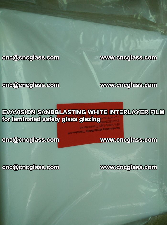 EVAVISION SANDBLASTING WHITE INTERLAYER FILM for laminated safety glass glazing (17)