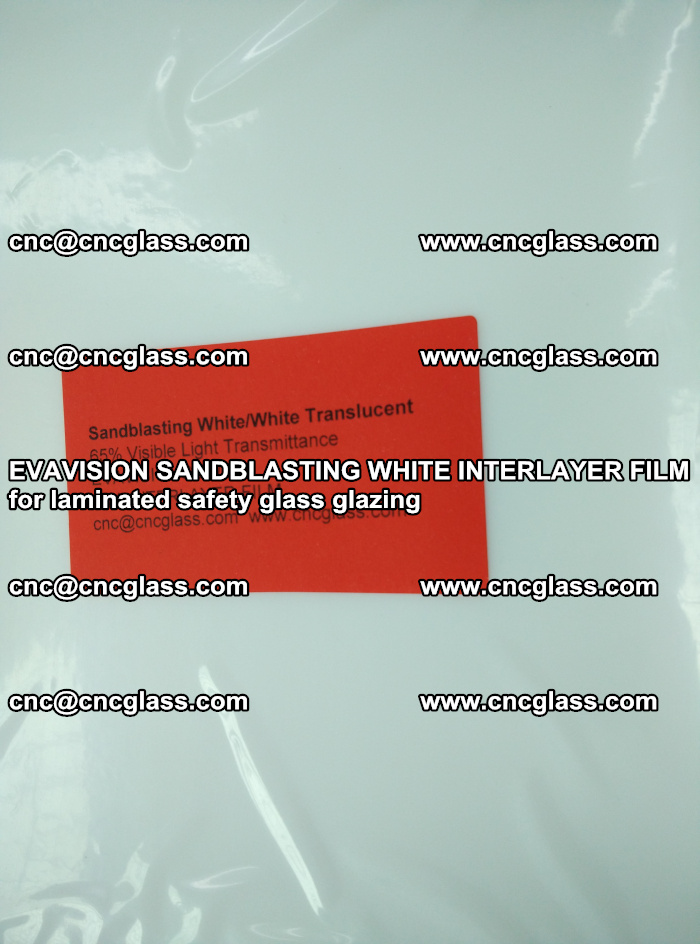 EVAVISION SANDBLASTING WHITE INTERLAYER FILM for laminated safety glass glazing (19)