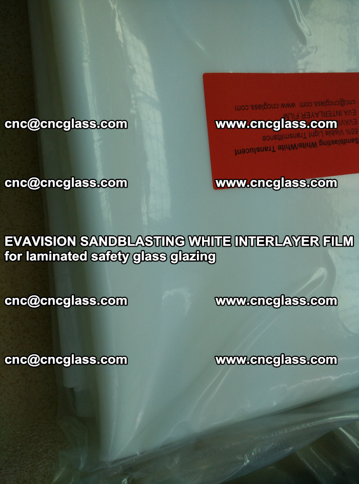 EVAVISION SANDBLASTING WHITE INTERLAYER FILM for laminated safety glass glazing (21)