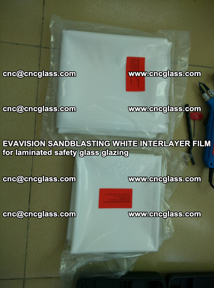 EVAVISION SANDBLASTING WHITE INTERLAYER FILM for laminated safety glass glazing (22)