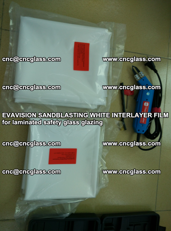 EVAVISION SANDBLASTING WHITE INTERLAYER FILM for laminated safety glass glazing (24)