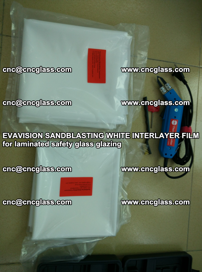 EVAVISION SANDBLASTING WHITE INTERLAYER FILM for laminated safety glass glazing (25)