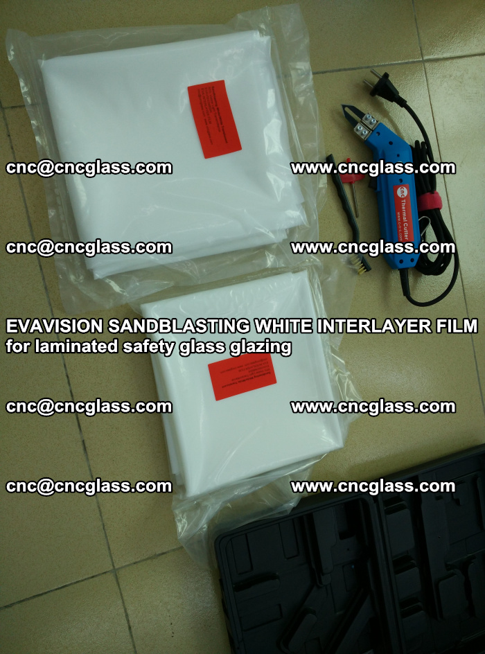 EVAVISION SANDBLASTING WHITE INTERLAYER FILM for laminated safety glass glazing (30)