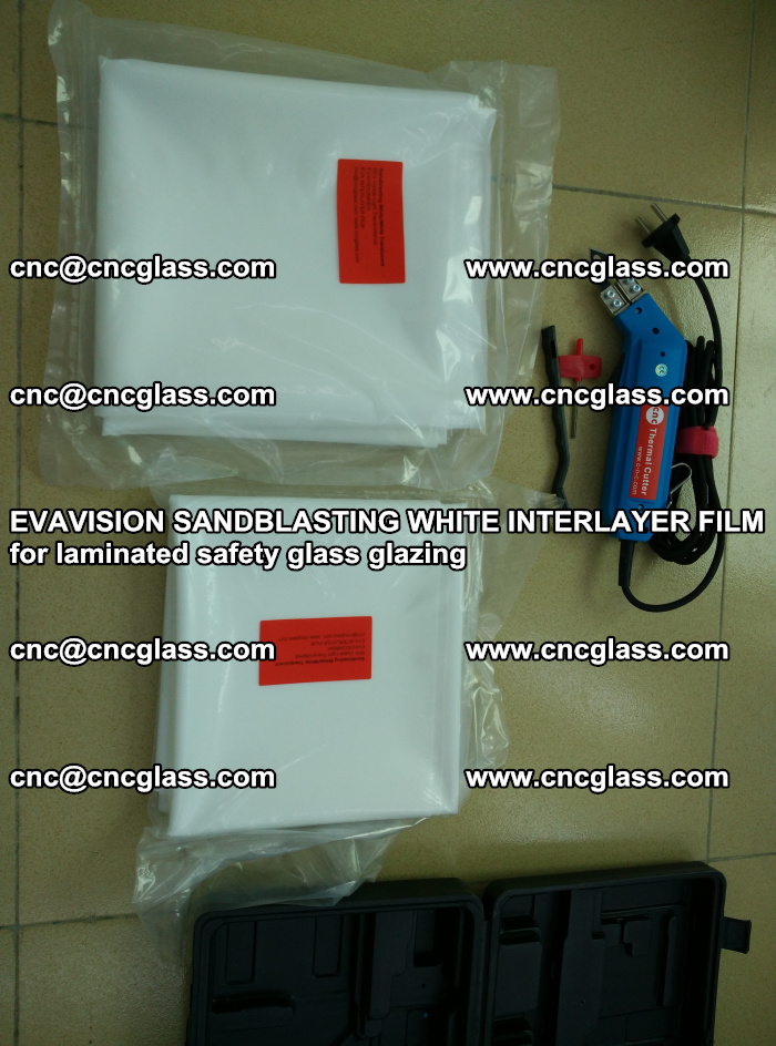 EVAVISION SANDBLASTING WHITE INTERLAYER FILM for laminated safety glass glazing (34)