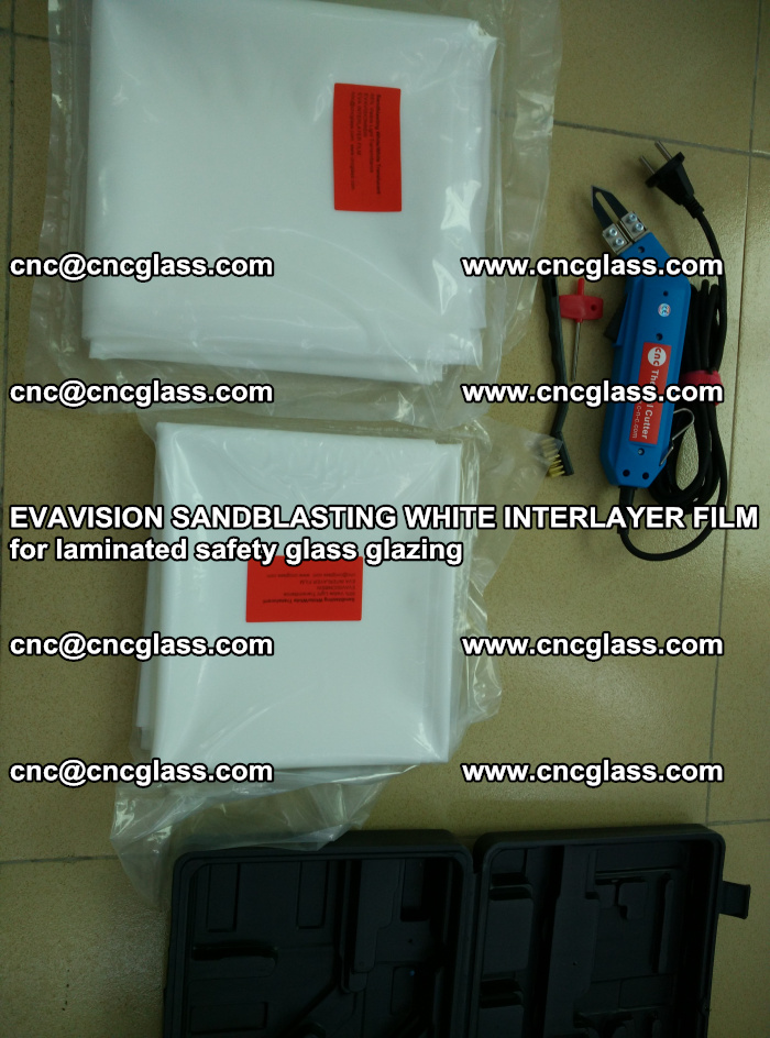 EVAVISION SANDBLASTING WHITE INTERLAYER FILM for laminated safety glass glazing (35)