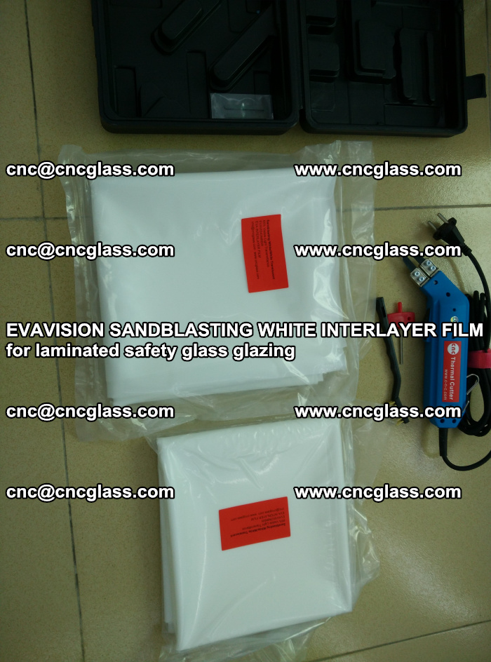 EVAVISION SANDBLASTING WHITE INTERLAYER FILM for laminated safety glass glazing (41)