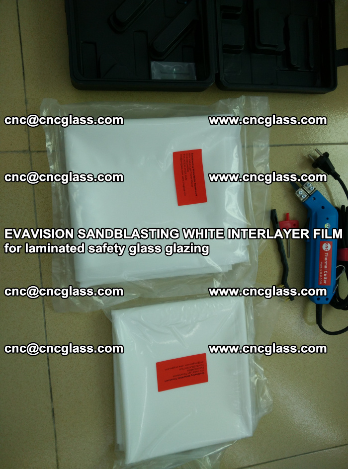 EVAVISION SANDBLASTING WHITE INTERLAYER FILM for laminated safety glass glazing (42)