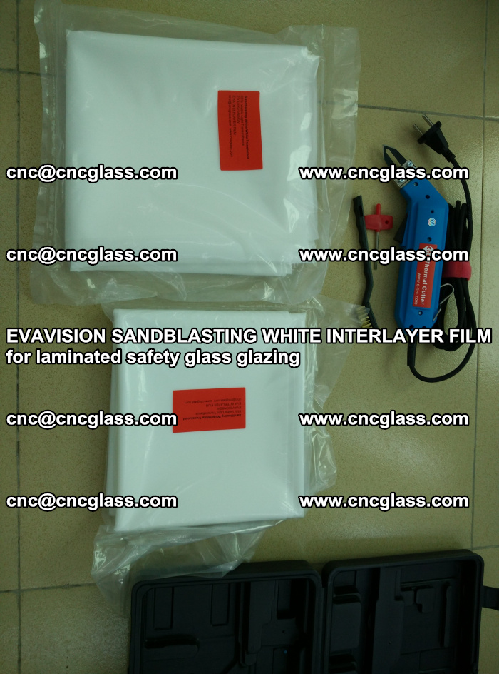 EVAVISION SANDBLASTING WHITE INTERLAYER FILM for laminated safety glass glazing (5)