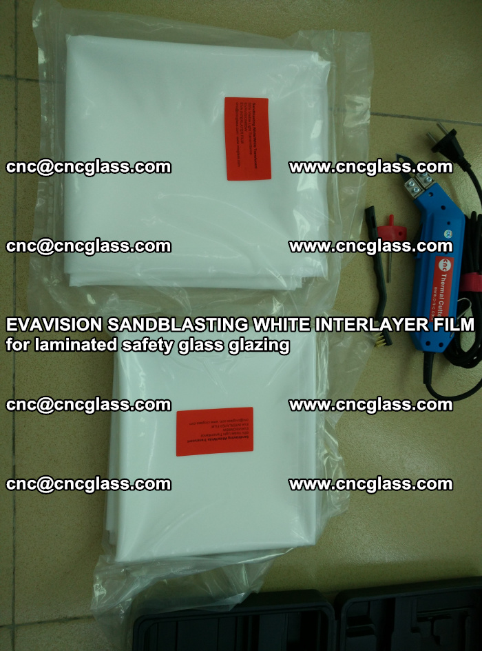 EVAVISION SANDBLASTING WHITE INTERLAYER FILM for laminated safety glass glazing (6)