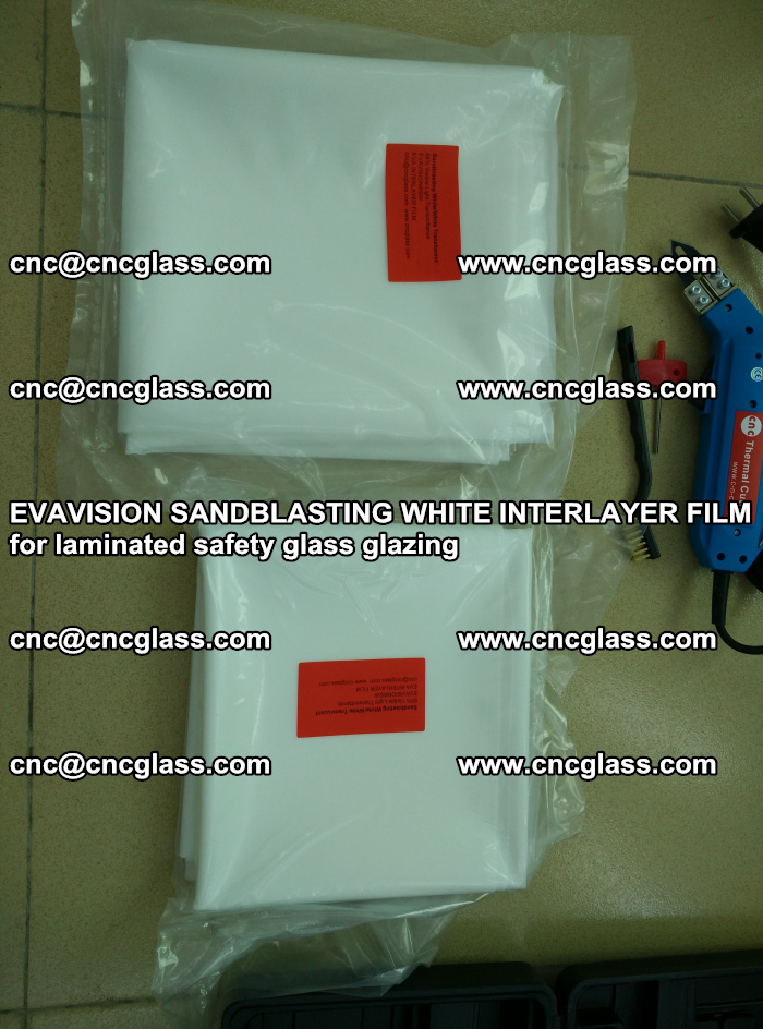 EVAVISION SANDBLASTING WHITE INTERLAYER FILM for laminated safety glass glazing (7)