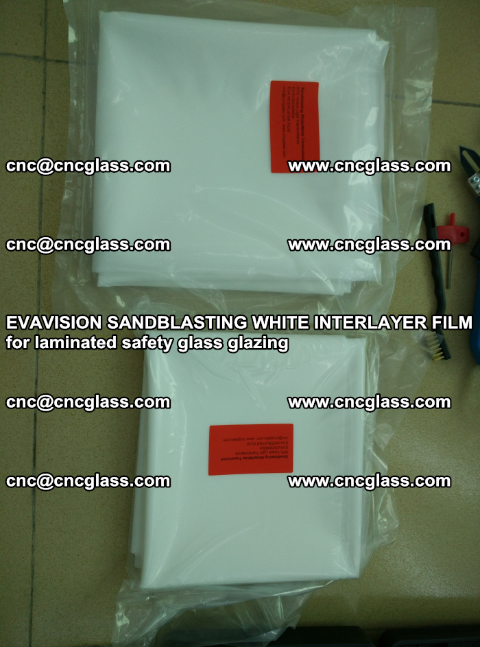EVAVISION SANDBLASTING WHITE INTERLAYER FILM for laminated safety glass glazing (8)