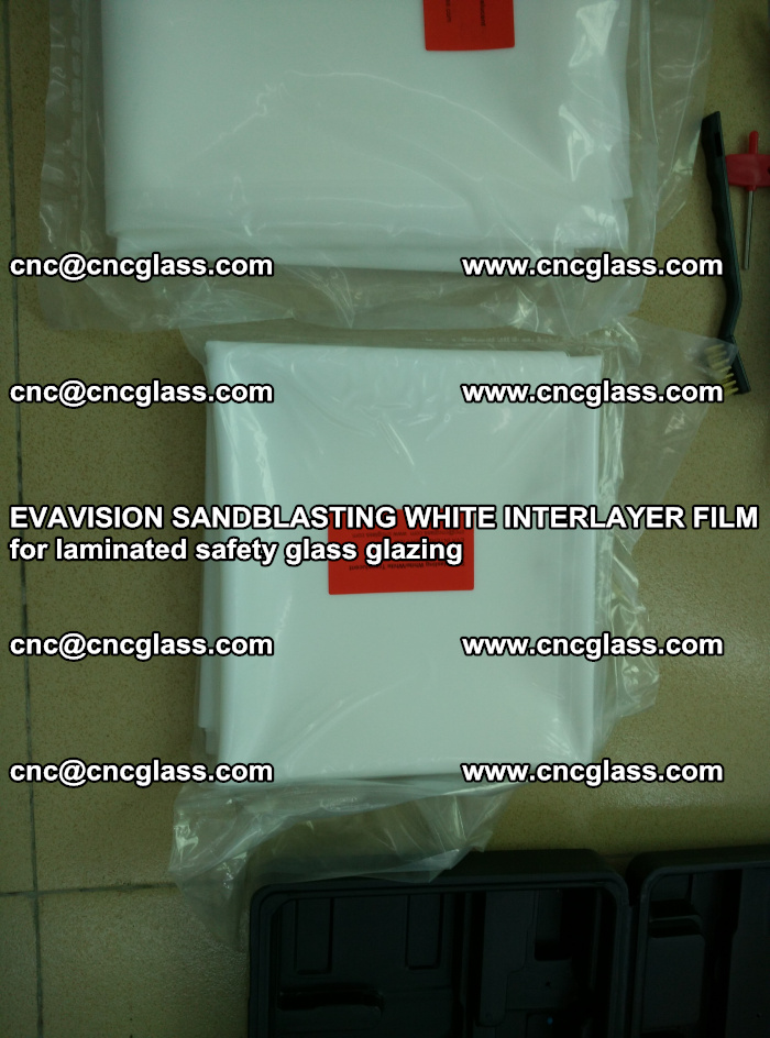 EVAVISION SANDBLASTING WHITE INTERLAYER FILM for laminated safety glass glazing (9)