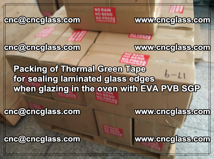 Packing of Thermal Green Tape for sealing laminated glass edges (15)