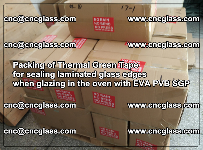 Packing of Thermal Green Tape for sealing laminated glass edges (17)