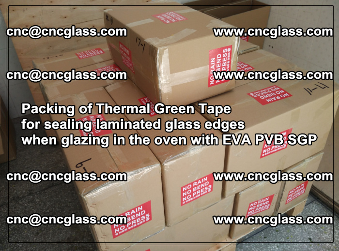 Packing of Thermal Green Tape for sealing laminated glass edges (2)