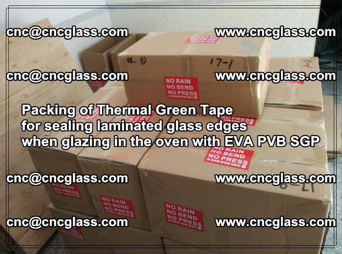 Packing of Thermal Green Tape for sealing laminated glass edges (20)