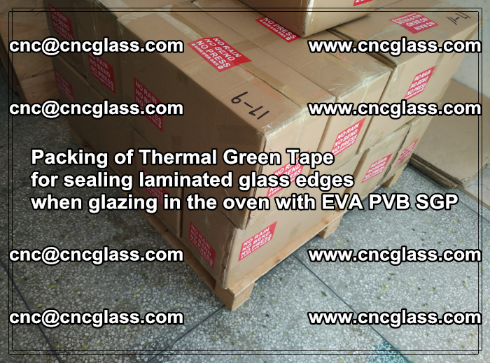 Packing of Thermal Green Tape for sealing laminated glass edges (26)