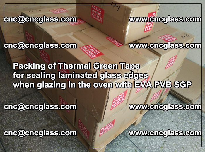 Packing of Thermal Green Tape for sealing laminated glass edges (28)