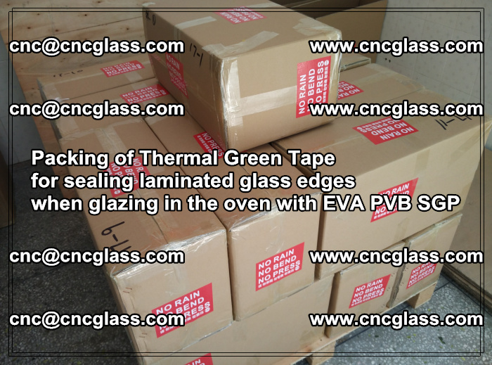 Packing of Thermal Green Tape for sealing laminated glass edges (3)