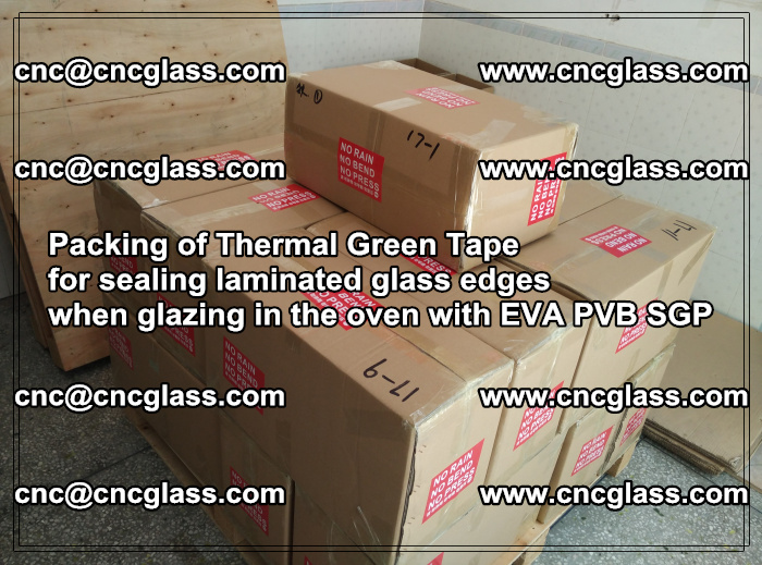 Packing of Thermal Green Tape for sealing laminated glass edges (30)