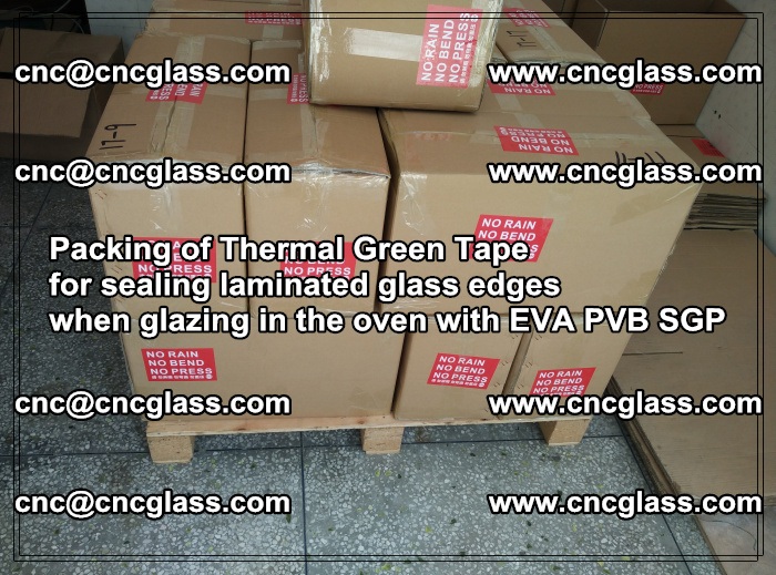 Packing of Thermal Green Tape for sealing laminated glass edges (39)