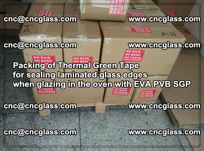 Packing of Thermal Green Tape for sealing laminated glass edges (41)