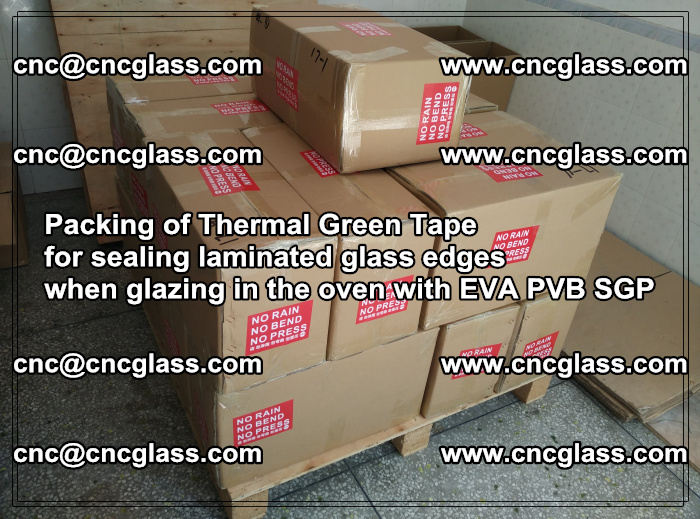 Packing of Thermal Green Tape for sealing laminated glass edges (45)