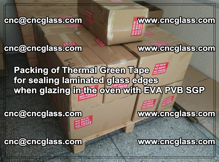 Packing of Thermal Green Tape for sealing laminated glass edges (49)