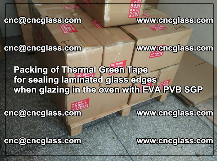 Packing of Thermal Green Tape for sealing laminated glass edges (53)