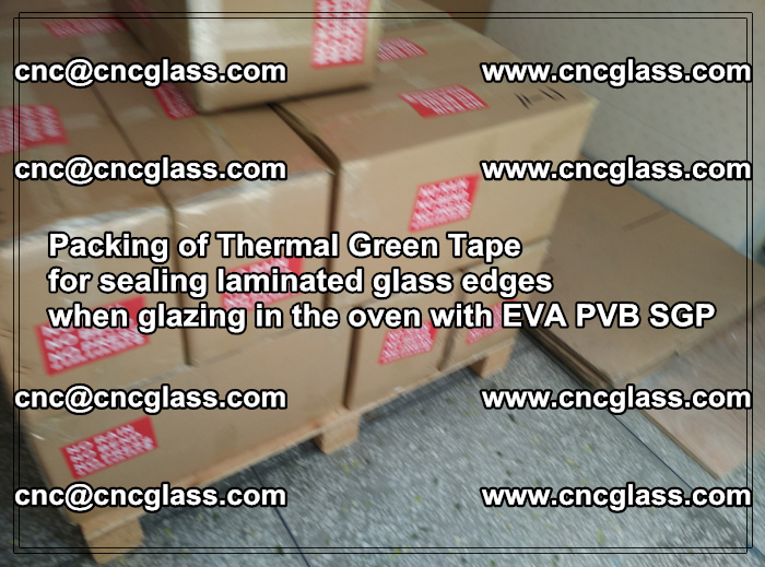 Packing of Thermal Green Tape for sealing laminated glass edges (57)
