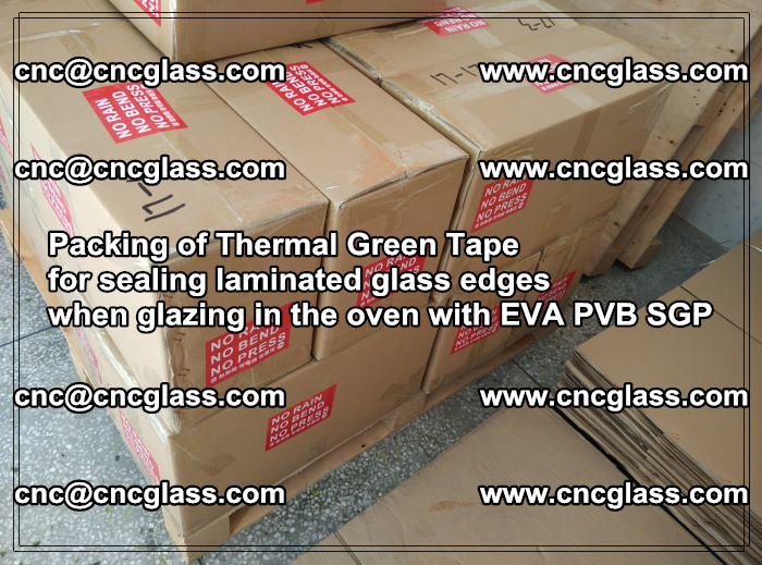 Packing of Thermal Green Tape for sealing laminated glass edges (69)