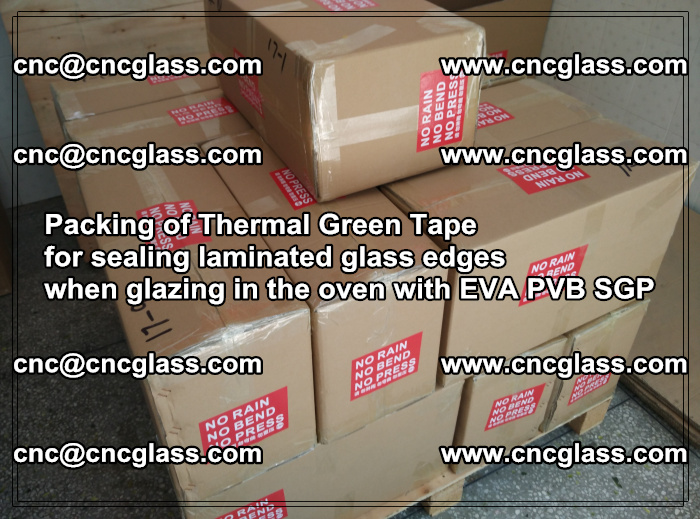 Packing of Thermal Green Tape for sealing laminated glass edges (7)