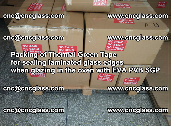 Packing of Thermal Green Tape for sealing laminated glass edges (70)