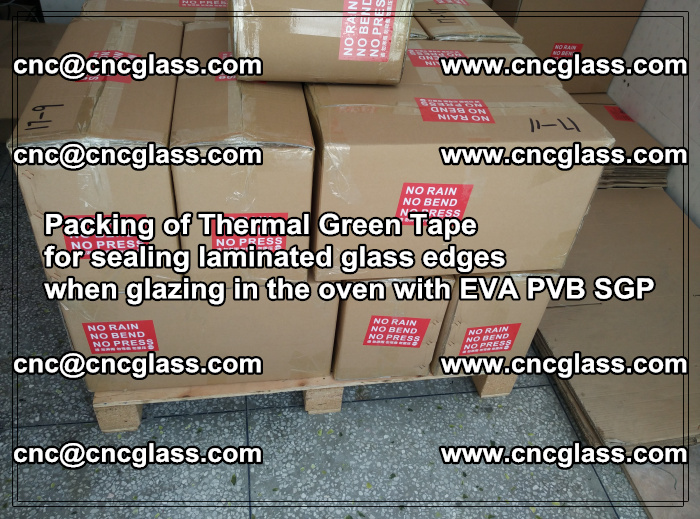 Packing of Thermal Green Tape for sealing laminated glass edges (72)