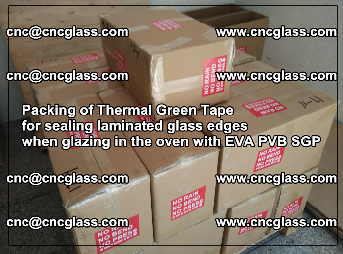 Packing of Thermal Green Tape for sealing laminated glass edges (8)