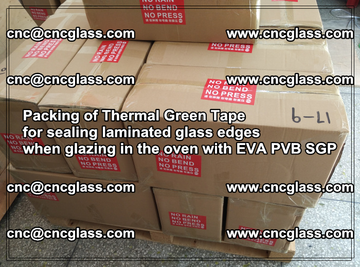 Packing of Thermal Green Tape for sealing laminated glass edges (80)
