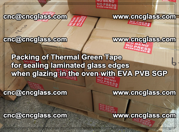 Packing of Thermal Green Tape for sealing laminated glass edges (88)