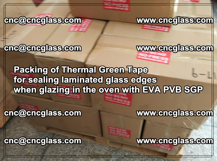 Packing of Thermal Green Tape for sealing laminated glass edges (89)