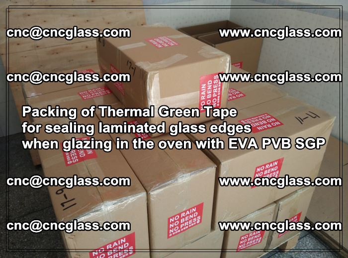 Packing of Thermal Green Tape for sealing laminated glass edges (9)
