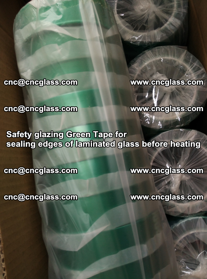 Safety glazing Green Tape for seal edges of laminated glass before heating (51)