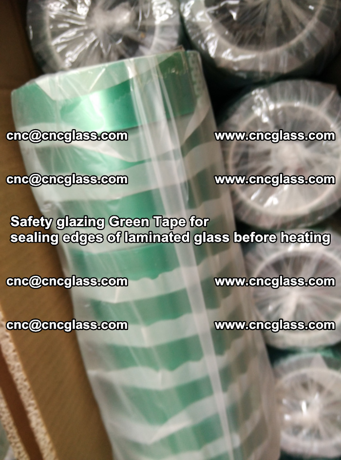 Safety glazing Green Tape for seal edges of laminated glass before heating (54)