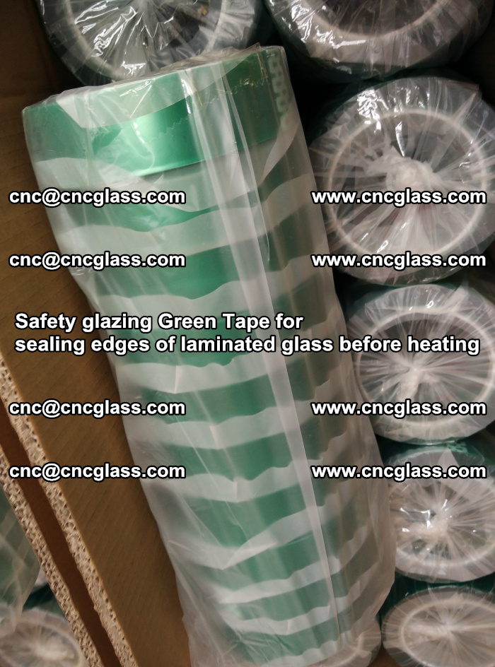 Safety glazing Green Tape for seal edges of laminated glass before heating (55)