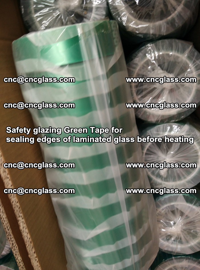 Safety glazing Green Tape for seal edges of laminated glass before heating (58)