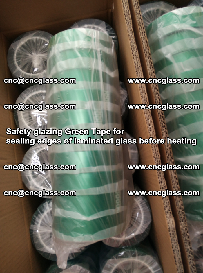 Safety glazing Green Tape for seal edges of laminated glass before heating (72)