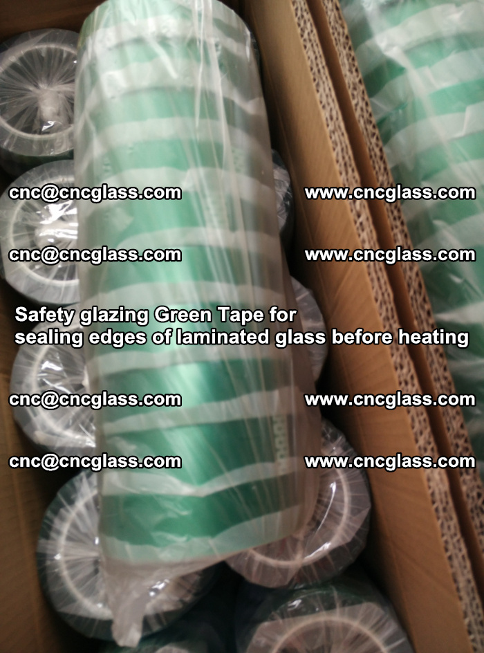 Safety glazing Green Tape for seal edges of laminated glass before heating (75)