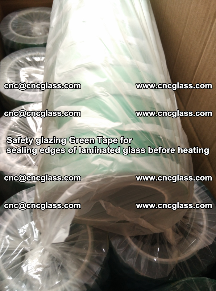Safety glazing Green Tape for seal edges of laminated glass before heating (80)