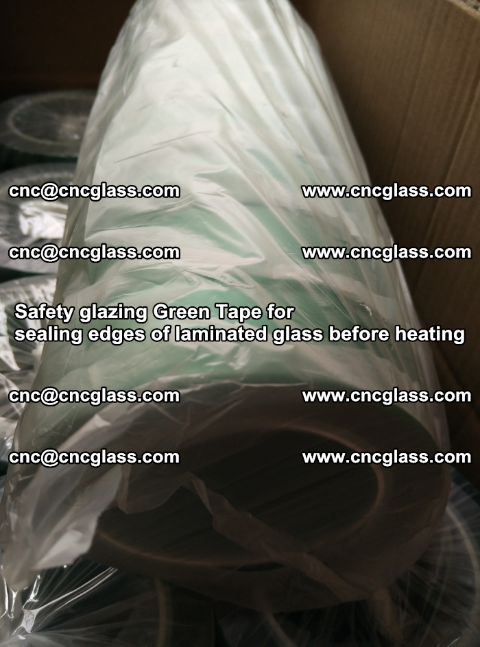 Safety glazing Green Tape for seal edges of laminated glass before heating (83)