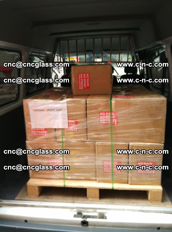 Safety glazing green thermal tape Packing and loading (13)
